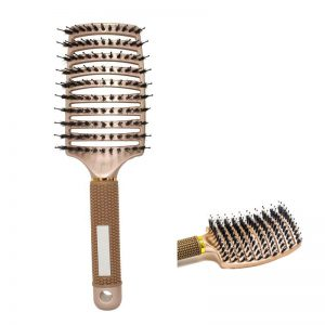 Curved Vent Brush Wide - Bronze