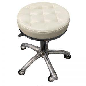 PureOx Salon Stool - White
