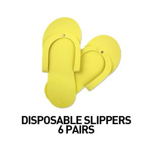 Disposal slippers pack of 6 (yellow)