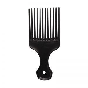 Black Plastic Afro Comb
