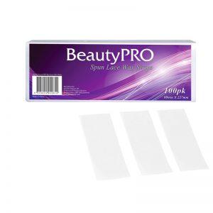 Beauty Pro Spun Lace Wax Strips 100pk 80mm X 227mm