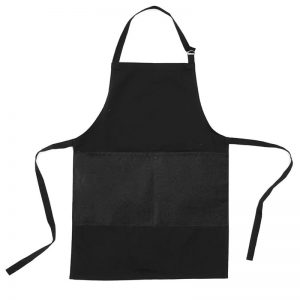 Barber Black Apron Waterproof and Bleach Proof with Front Pocket A001