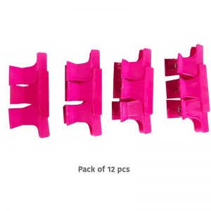 Butterfly Clips 12pk Pink - Small