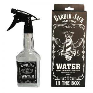 Barber Jack Spray Bottle Barber Shop Design - 600 ML Transparent