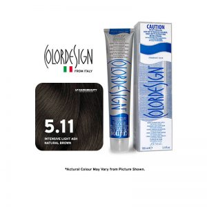 Color Design Permanent Hair Color 5.11 Intense Light Ash Natural Brown 100ml
