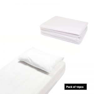 Cello Fitted Bed Sheets White 10 Pcs
