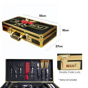 PureOx Barber Shop Golden Tool Case
