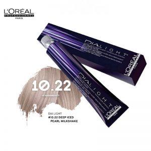 Loreal Dia Light Hair Colourant 10.22 Deep Iced Pearl Milkshake 50ml