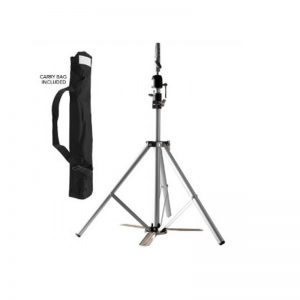 Mannequin Head Tripod with Foot Stabiliser - Silver
