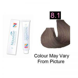 Nouvelle - Permanent Hair Color 8.1/Light Ash Blonde 100ml