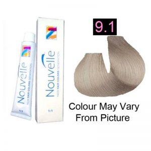 Nouvelle - Permanent Hair Color 9.1/Very Light Ash Blonde 100ml