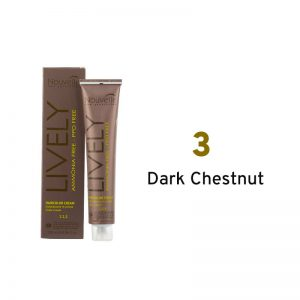 Nouvelle Lively Ammonia Free Hair Color Dark Chestnut 3