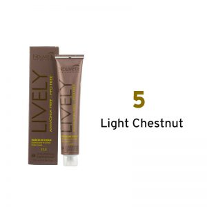 Nouvelle Lively Ammonia Free Hair Color Light Chestnut 5