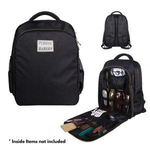 PureOx Barber Mobile Barber Station Travel Backpack - Black