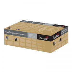 Bastion Latex Standard/Lightly Powdered Gloves - Large