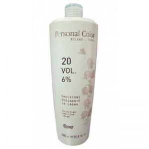 Personal Color Oxidising Emulsion Cream Peroxide 20 Vol. 6% - Color Cream Developer 1000ml
