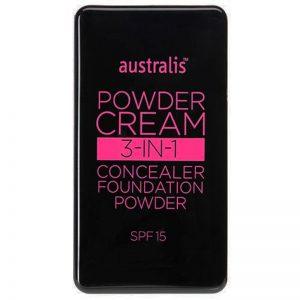 Australis Powder Cream 3-in-1 Concealer, Foundation & Powder - Nude Beige