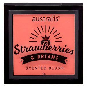 Australis: Strawberries & Dream Scented Blush - Peaches & Cream 9g