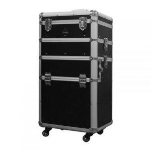 PureOx Beauty Case Black Normal Multi-purpose Makeup Travel Case