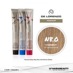 De Lorenzo NovaColor Permanent Colour N8.0 – Very Light Natural Blonde 60g