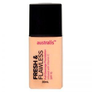 Australis Fresh & Flawless Full Coverage Foundation 30ml - Fairest