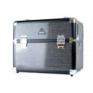 PureOx Train Beauty Case Black Glitter Multi-purpose Makeup Travel Case