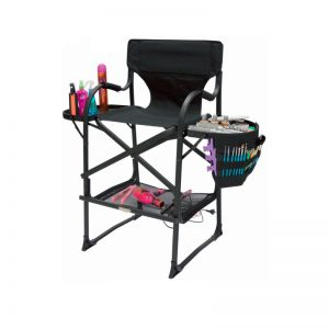 IVY Portable Beauty Makeup / Hairdressing Chair Black