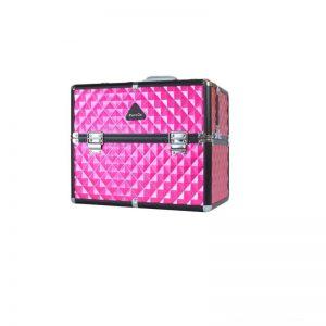 PureOx Train Beauty Case Hot Pink Multi-purpose Makeup Travel Case